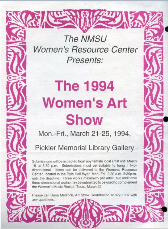 1994 art show poster