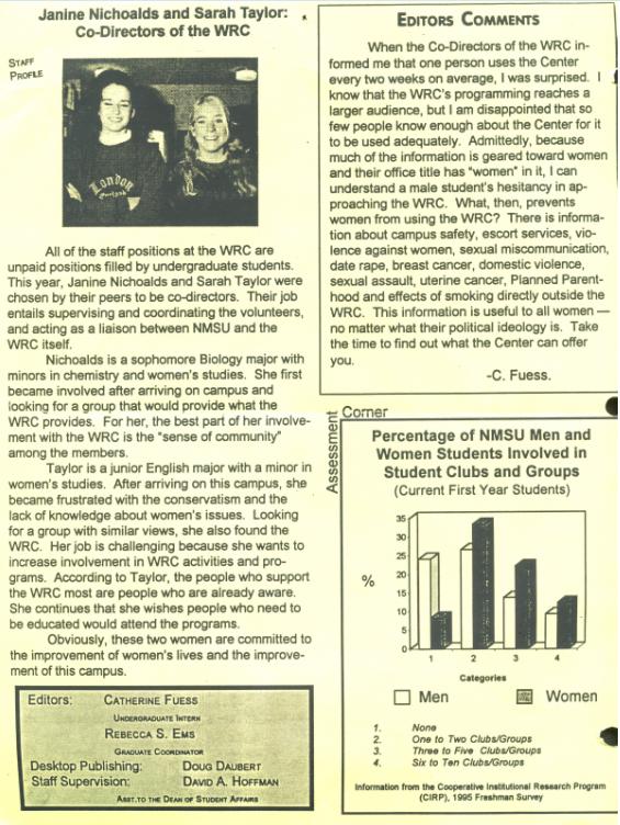 1996 wrc newsletter back